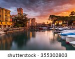 climate port in sirmione on... | Shutterstock . vector #355302803