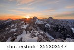 sunset in the mountains with... | Shutterstock . vector #355303547