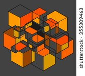 the form of cubes | Shutterstock .eps vector #355309463