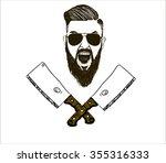 vector hand drawn typography... | Shutterstock .eps vector #355316333