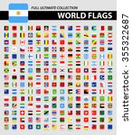 square flags of the world  ... | Shutterstock .eps vector #355322687