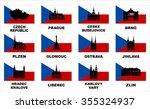 vector symbols of czech... | Shutterstock .eps vector #355324937