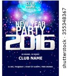 new year party backgrounds... | Shutterstock .eps vector #355348367