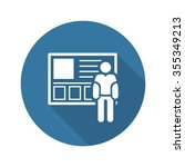 consulting service icon. flat... | Shutterstock .eps vector #355349213