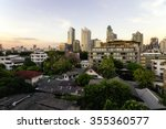 contrasts in bangkok city ... | Shutterstock . vector #355360577