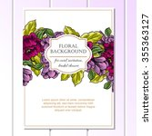 invitation with floral... | Shutterstock .eps vector #355363127