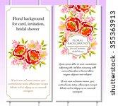 vintage delicate invitation... | Shutterstock .eps vector #355363913