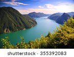 View Of Lugano Lake In Summer ...