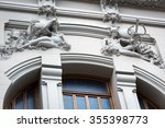 old building with beautiful... | Shutterstock . vector #355398773