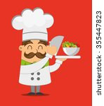 people cooking design  vector... | Shutterstock .eps vector #355447823