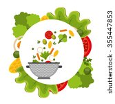 healthy food design  vector... | Shutterstock .eps vector #355447853