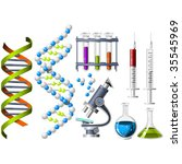 science and genetics icons | Shutterstock .eps vector #35545969