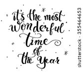 it's the most wonderful time of ... | Shutterstock .eps vector #355464653