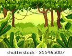 forest. colorful jungle. vector ... | Shutterstock .eps vector #355465007
