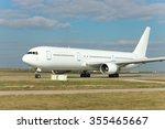 Big White Passenger Jet Plane...