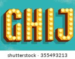 vector retro  letters with... | Shutterstock .eps vector #355493213