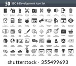 set of seo and development icons | Shutterstock .eps vector #355499693