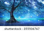 fairy tree in mystic forest  | Shutterstock . vector #355506767