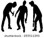 three drunken men    Shutterstock .eps vector #355511393