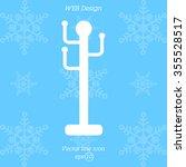 web line icon. rack  hanger. | Shutterstock .eps vector #355528517