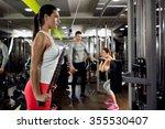 fitness woman workout strength... | Shutterstock . vector #355530407