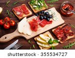 sandwiches with various... | Shutterstock . vector #355534727