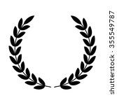 laurel wreath   symbol of... | Shutterstock .eps vector #355549787