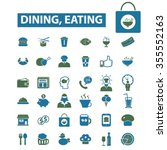 dining  eating  fast food ... | Shutterstock .eps vector #355552163