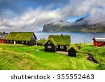 village of mikladalur located... | Shutterstock . vector #355552463
