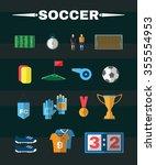 soccer game icons. football... | Shutterstock . vector #355554953