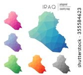 set of vector polygonal iraq... | Shutterstock .eps vector #355584623