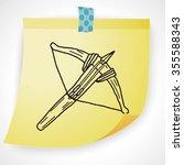 crossbow doodle | Shutterstock . vector #355588343