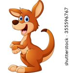 kangaroo cartoon | Shutterstock . vector #355596767