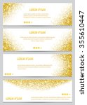 set of gold glitter banners.... | Shutterstock .eps vector #355610447