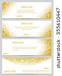 set of gold glitter banners... | Shutterstock .eps vector #355610447