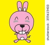 vector cute bunny. | Shutterstock .eps vector #355615403