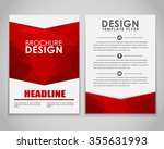 design brochures  flyers  with... | Shutterstock .eps vector #355631993