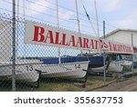 Small photo of BALLARAT, VICTORIA, AUSTRALIA - December 13, 2015: The Ballaarat Yacht Club (1877) has had a continuous history (albeit affected by drought) on the artificially created Lake Wendouree