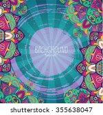 mandala. ethnic decorative... | Shutterstock .eps vector #355638047