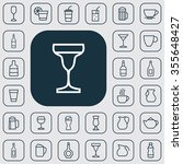 drinks outline  thin  flat ... | Shutterstock . vector #355648427