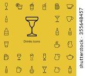 drinks outline  thin  flat ... | Shutterstock . vector #355648457