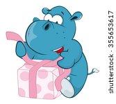 vector illustration of a cute... | Shutterstock .eps vector #355653617