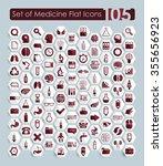 set of medicine icons | Shutterstock .eps vector #355656923