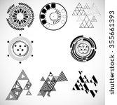 vector hipster geometry .... | Shutterstock .eps vector #355661393