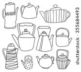 a set of hand drawing tea.... | Shutterstock .eps vector #355684493