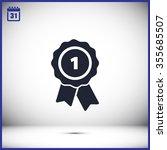 pictograph of award vector icon | Shutterstock .eps vector #355685507