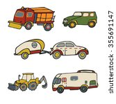 cars track toy set | Shutterstock .eps vector #355691147