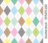 Seamless Illustrated Argyle...