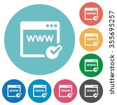 flat domain registration icon...