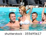 young people having fun in the... | Shutterstock . vector #355695617